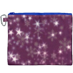 Blurry Stars Plum Canvas Cosmetic Bag (xxxl) by MoreColorsinLife