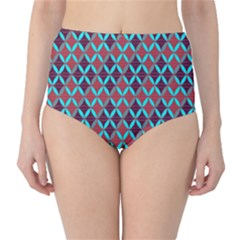 Rhomboids Pattern 2 High-waist Bikini Bottoms