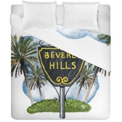 Beverly Hills Duvet Cover Double Side (california King Size) by allthingseveryday