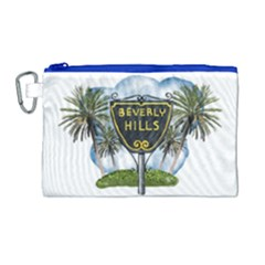 Beverly Hills Canvas Cosmetic Bag (large) by allthingseveryday