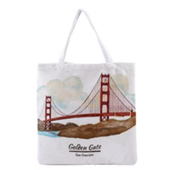 San Francisco Golden Gate Bridge Grocery Tote Bag by allthingseveryday