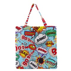 Comic Pattern Grocery Tote Bag by allthingseveryday