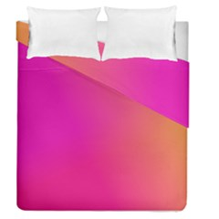 Pink Orange Yellow Ombre  Duvet Cover Double Side (queen Size) by SimplyColor