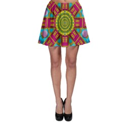 Sunny And Bohemian Sun Shines In Colors Skater Skirt by pepitasart