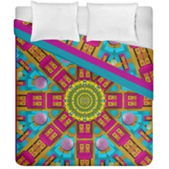 Sunny And Bohemian Sun Shines In Colors Duvet Cover Double Side (california King Size) by pepitasart