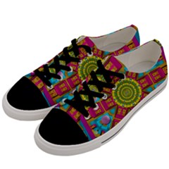 Sunny And Bohemian Sun Shines In Colors Men s Low Top Canvas Sneakers by pepitasart
