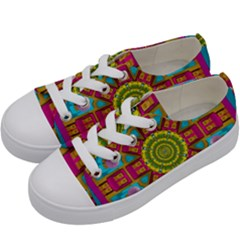 Sunny And Bohemian Sun Shines In Colors Kids  Low Top Canvas Sneakers by pepitasart