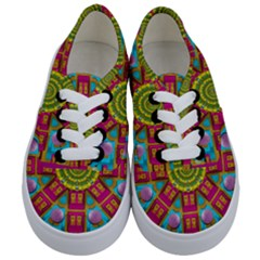Sunny And Bohemian Sun Shines In Colors Kids  Classic Low Top Sneakers