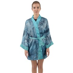 Frost Dragon Camouflage Long Sleeve Kimono Robe