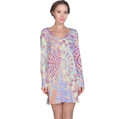 Gateway To Thelight Pattern  Long Sleeve Nightdress