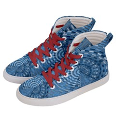 Gateway Pattern Blue 3 Women s Hi-top Skate Sneakers by Cveti