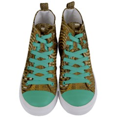 Gatway To Thelight Pattern 4 Women s Mid Top Canvas Sneakers
