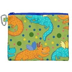 Colorful Dragons Pattern Canvas Cosmetic Bag (xxl) by allthingseveryday