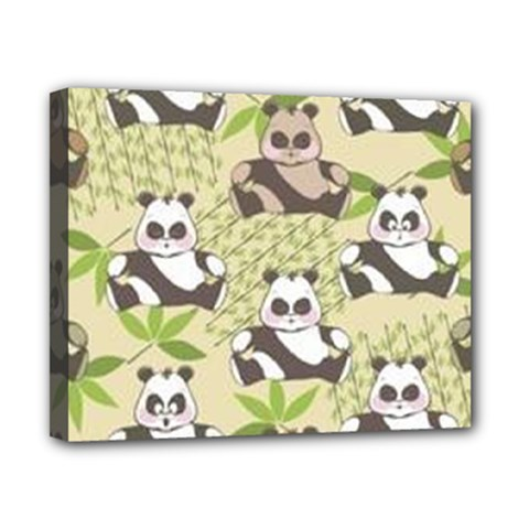 Fun Panda Pattern Canvas 10  X 8  by allthingseveryday