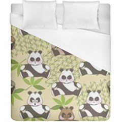 Fun Panda Pattern Duvet Cover (california King Size) by allthingseveryday