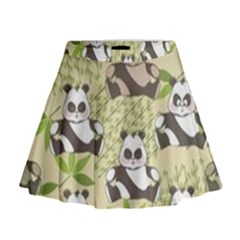 Fun Panda Pattern Mini Flare Skirt by allthingseveryday