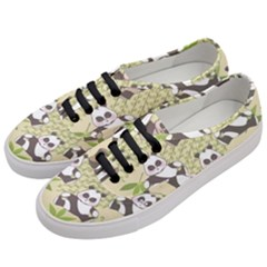 Fun Panda Pattern Women s Classic Low Top Sneakers by allthingseveryday