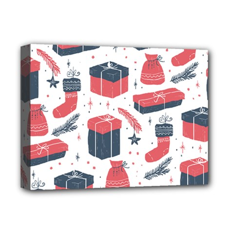 Christmas Gift Sketch Deluxe Canvas 16  X 12   by patternstudio