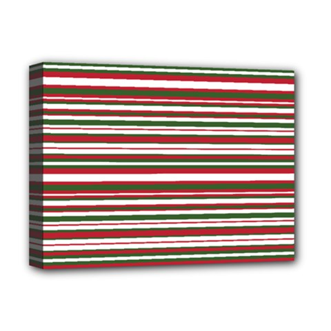 Christmas Stripes Pattern Deluxe Canvas 16  X 12   by patternstudio