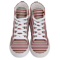 Christmas Stripes Pattern Men s Hi-top Skate Sneakers