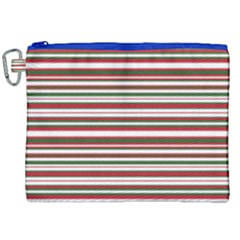 Christmas Stripes Pattern Canvas Cosmetic Bag (xxl) by patternstudio