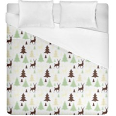 Reindeer Tree Forest Duvet Cover (king Size) by patternstudio