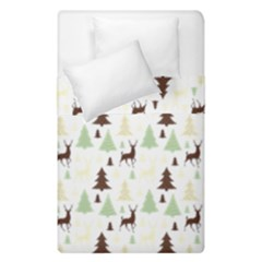 Reindeer Tree Forest Duvet Cover Double Side (single Size) by patternstudio