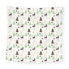 Reindeer Tree Forest Square Tapestry (large) by patternstudio
