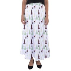 Reindeer Tree Forest Flared Maxi Skirt by patternstudio