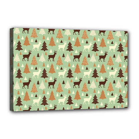 Reindeer Tree Forest Art Canvas 18  X 12  by patternstudio