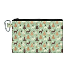 Reindeer Tree Forest Art Canvas Cosmetic Bag (medium)