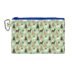 Reindeer Tree Forest Art Canvas Cosmetic Bag (large)
