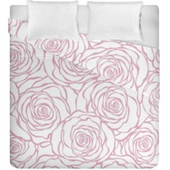 Pink Peonies Duvet Cover Double Side (king Size) by 8fugoso
