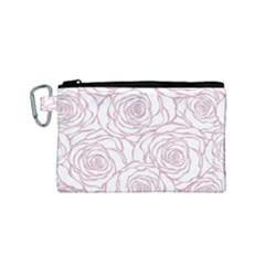 Pink Peonies Canvas Cosmetic Bag (small) by 8fugoso