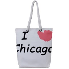 I Heart Chicago  Full Print Rope Handle Tote (small) by SeeChicago