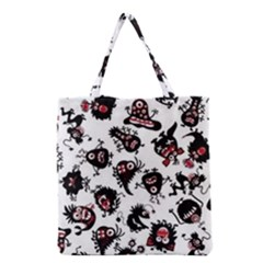 Goofy Monsters Pattern  Grocery Tote Bag by allthingseveryday