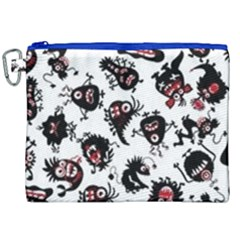 Goofy Monsters Pattern  Canvas Cosmetic Bag (xxl) by allthingseveryday