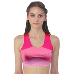 Geometric Shapes Magenta Pink Rose Sports Bra by Celenk
