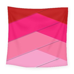 Geometric Shapes Magenta Pink Rose Square Tapestry (large) by Celenk