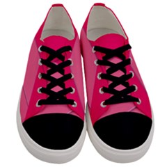 Geometric Shapes Magenta Pink Rose Men s Low Top Canvas Sneakers