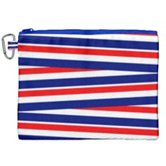 Red White Blue Patriotic Ribbons Canvas Cosmetic Bag (xxl) by Celenk