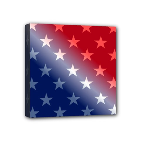 America Patriotic Red White Blue Mini Canvas 4  X 4