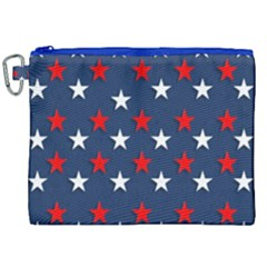 Patriotic Colors America Usa Red Canvas Cosmetic Bag (xxl) by Celenk