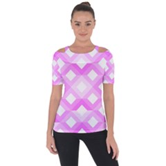 Geometric Chevrons Angles Pink Short Sleeve Top