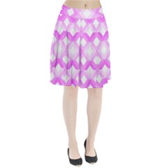 Geometric Chevrons Angles Pink Pleated Skirt