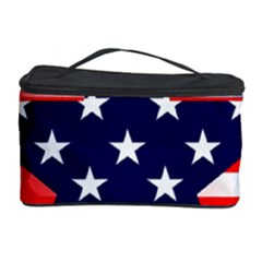 Patriotic American Usa Design Red Cosmetic Storage Case by Celenk