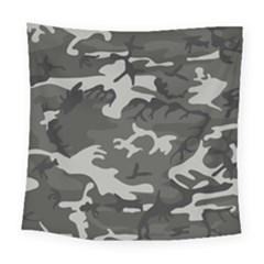 Camouflage Pattern Disguise Army Square Tapestry (large)
