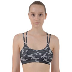 Camouflage Pattern Disguise Army Line Them Up Sports Bra by Celenk