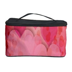 Pink Hearts Pattern Cosmetic Storage Case by Celenk