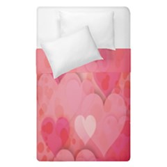 Pink Hearts Pattern Duvet Cover Double Side (single Size) by Celenk